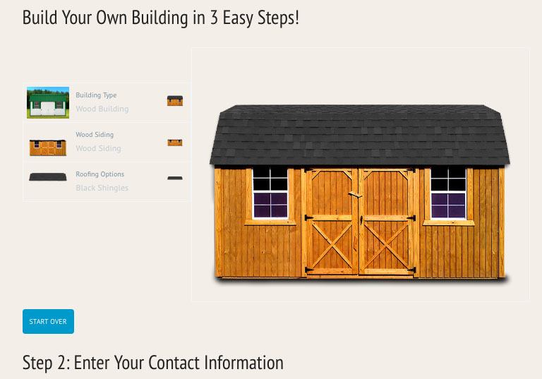 Mov buildings amish buildings tiny houses delivered for Build your own barn online